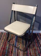 Arrben Tamara Italy Modern Chrome Leather Folding Chair Italian (5 AVAILABLE!!!)