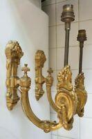Magnifique appliques électrifiées style Louis LVI bronze.XIX.