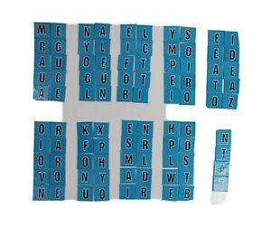 Scrabble For Juniors Blue Letter Tiles Replacement Parts Only 94 Pieces