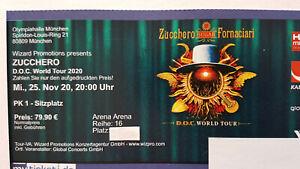 2 x Zucchero 26.05.2022 München - Top Sitzplätze Arena - neuer Termin !