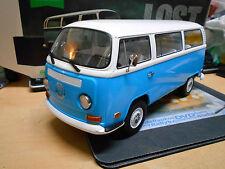 """VW Volkswagen Bulli T2 b T2B TV Movie Filmauto """" Lost """" blau Greenlight NEU 1:18"""