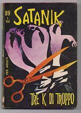 SATANIK N. 89 TRE K DI TROPPO editoriale corno 1968