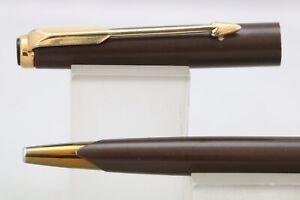 Vintage (c1978-82) Parker 50 (aka Falcon) Matt Brown Ballpoint Pen, GT