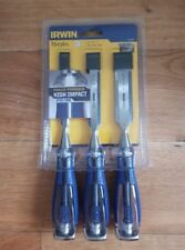 IRWIN Marples 3pc High Impact Wood Chisel Set Bevel Edge Steel Core 25mm 19 13mm