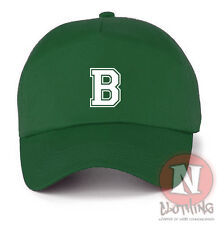Personalised Varsity letter Baseball Cap Kids Sun 100% Cotton size adjustable
