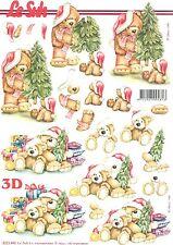 Feuille 3D à découper A4 Arbre de Noël Nounours 8215.446 Decoupage Christmas