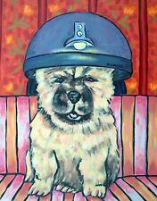 chow chow dog art PRINT poster gift JSCHMETZ modern folk salon 8x10