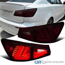 For 06-08 Lexus IS250 IS350 Red Smoke LED Tail Lights+Trunk Brake Lamps Pair