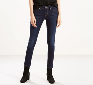 Levi 'S 711 Ados Fille 'S Femme 'S Bleu Coupe Skinny Mi Montant Jean W23 W24 L30