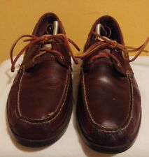 Timberland Men's Shoes EK Kia Wah Bay Boat Shoes 5230R Brown Leather Sz 12 M