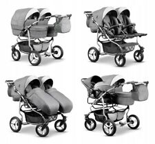 Baby Twin Pram 3in1 Pushchair Double Toddler Buggy Twins Car seats Newborns