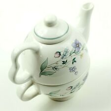 Pfaltzgraff Teapot/Cup. April Pattern, Stackable Teapot and Cup.