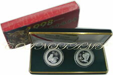 1998 S. Tome E Principe, 1000 Dobras, Year of Tiger, 2 Proof Silver coin SET