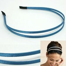 CELEBRITY DOUBLE HAIR HEADBAND GOSSIP GIRL blue HB1060