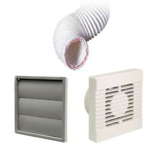 Manrose Extractor Fan Grey Gravity Vent Ducting Kit for Kitchens & Bathrooms