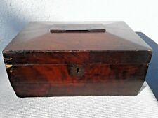 ANTIQUE WOODEN STORAGE STATIONARY BOX WITH DIVIDERS 19TH CENTURY