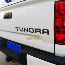 Black stainless steel Tailgate Letter Insert molding Decal for 2014-2017 Tundra