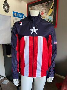 Fila USA Wind Breaker Shani Davis Team Issue Jacket Size XL