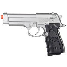 UKARMS M9 92 FS BERETTA SPRING AIRSOFT PISTOL SILVER HAND GUN Full Size + 6mm BB