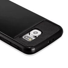For  Samsung Galaxy S6 Case Black Cover Hybrid Shockproof Hard Rugged Heavy Duty