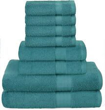 Towel Set 8 Piece 2 Bath Towels 2 Hand Towels 4 Washcloths Cotton Towels