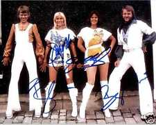 """ABBA band Reprint Signed 8x10"""" Promo Photo RP ALL 4 Members"""