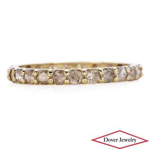 Estate 1.10ct Diamond 14K Gold Lovely Eternity Band Ring NR