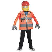 Kids Boys Classic Construction Worker LEGO Halloween Costume Tunic Pants S M L