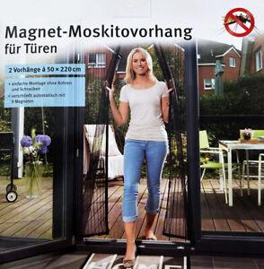 Insektenschutz Tür Balkon Fliegengitter Magnetverschluss Lamellen Vorhang