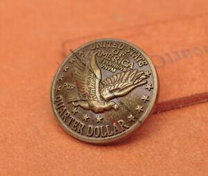 10X 30mm Brass Replica Flying Eagle Dollar Coin Belt Leathercraft Keyring Concho