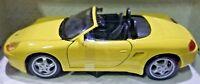 Maisto Special Edition Porsche Boxster Yellow w Black Interior 1:24 Die Cast