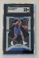 RJ Barrett 2019 Panini Prizm #250 RC SGC 10 GEM MINT KNICKS DUKE