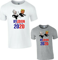 Byedon 2020 Joe Biden Kicked Trump Funny T-Shirt American Election USA President