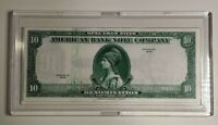 """1929 AMERICAN Bank Note Company """"TEST NOTE"""" SPECIMEN $10 Ch UNC ++"""