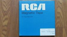 """New RCA magnetic Recorder Tape. Type 10A-18*1.0 MIL ACETATE- 7"""" Reel to Reel"""