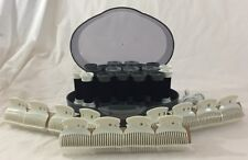 Remington Body Waves Curlers 19 Hot Rollers Wax Core Ionic Gray w/ New Clips