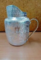 Thai Aluminium Handmade Vintage Drinking Water Jug  Silver Water Pitcher