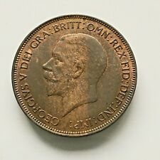 George V Penny 1932 Excellent with Lustre