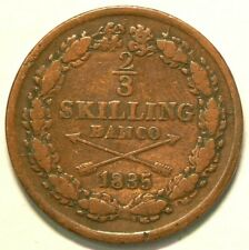 1835 Sweden 2/3 Skilling KM#641 Bronze #6126