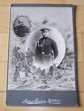 Andenke Foto Soldat Infanterie-Regiment Nr. 139 Döbeln Kabinettfoto