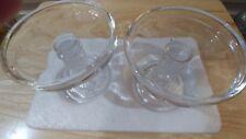 Longaberger Pottery Glassware Pedestal Candle Twisted Stem Crystal Nib