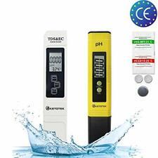 Ketotek Tester TDS EC Medidor de ph Pluma, Digital Kit de prueba de calidad del agua portátil CE