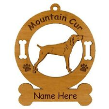 Mountain Cur Standing Dog Ornament Personalized With Your Dogs Name 3577