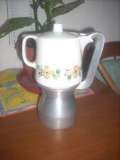 caffettiera in alluminio e parte in  ceramica 4-5 tazze