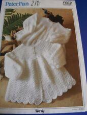 Peter Pan Child's matinee Coat Knitting Pattern 663