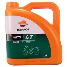 Repsol Moto Rider 4T 15W-50 4 Litro Lattina