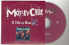 MOTLEY CRUE 3 titres rares CD PROMO france french only card slv generation swine