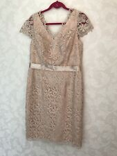 Gina Bacconi Knee LENGTH LACE DRESS ~ Mother Of The Bride / Size: UK 16