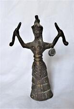 Statuette en bronze DEESSE  SERPENT Reproduction Grèce Crète