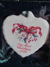 BelIeek Ireland OUR FIRST CHRISTMAS 1998 ORNAMENT